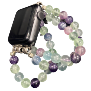 Fluorite Beaded Apple Watch Band