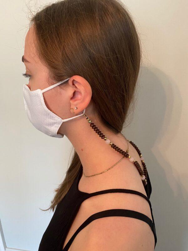 Handmade face mask chain