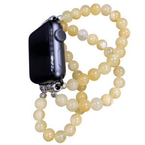 Honey Onyx Beaded Apple Watch Band