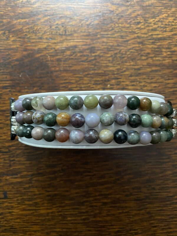 Indian Agate Beaded Apple Watch Band
