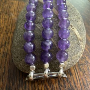 Amethyst Beaded Apple Watch Band
