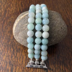 Amazonite Beaded Apple Watch Band