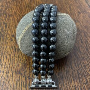 Hematite Beaded Apple Watch Band