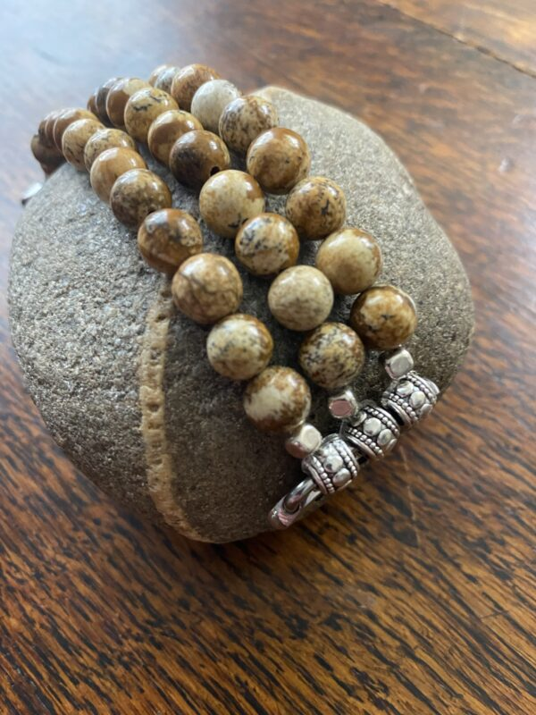 Picture Jasper Beaded Apple Watch Band