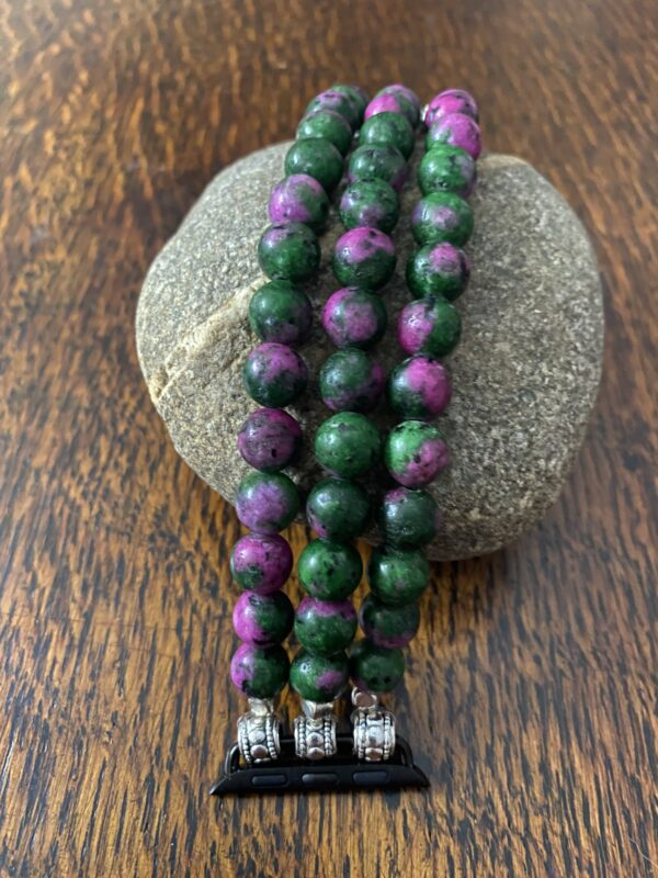 Ruby Zoisite Beaded Apple Watch Band